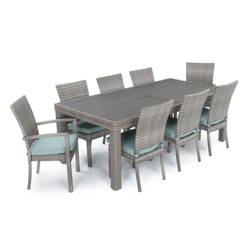 9 Piece Alfredo Patio Dining Set