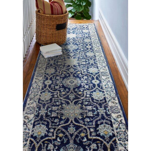 Caton Dark Blue Area Rug U0026 Reviews | Wayfair