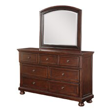 Elkland 7 Drawer Dresser with Mirror by Darby Home Co