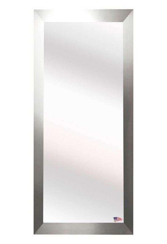Full Body Wall Mirror wade logan brushed nickel aluminum full body wall mirror & reviews