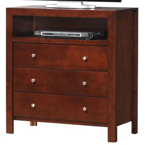 Brennen 3 Drawer Media Chest by Latitude Run