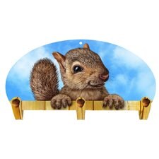 Squirrel 3 Hook Coat Rack by Next Innovations