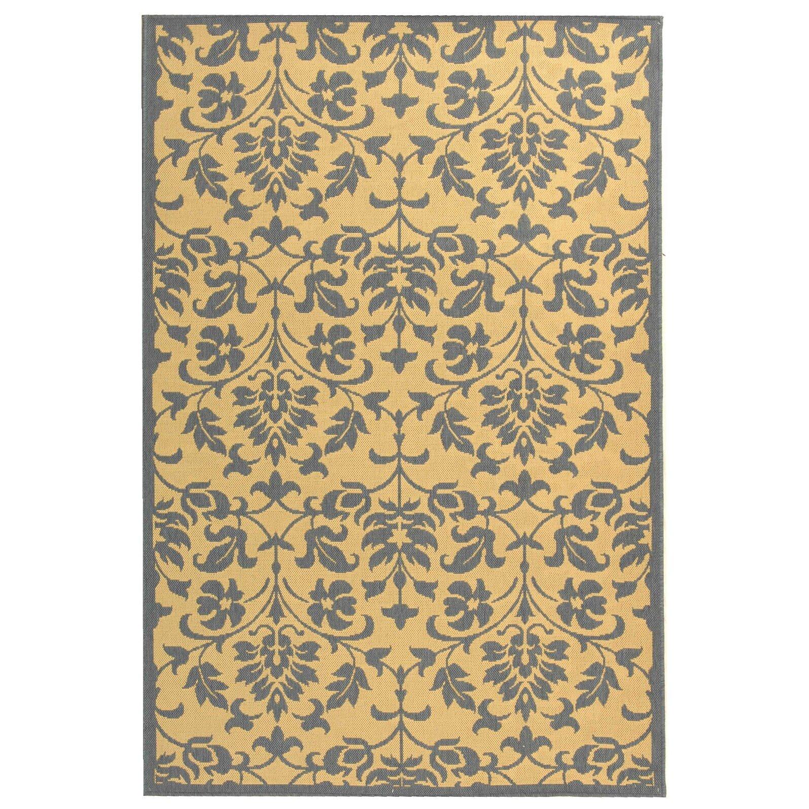 Astoria grand beasley natural blue indoor outdoor area rug for Blue indoor outdoor rug