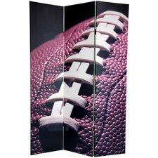 72 x 48 Double Sided Football 3 Panel Room Divider by Oriental Furniture