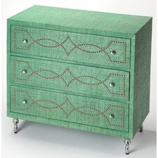 Eglantina 3 Drawer Accent Chest by Bungalow Rose