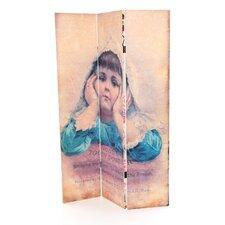 70.88 x 47.25 Vintage Children 3 Panel Room Divider by Oriental Furniture