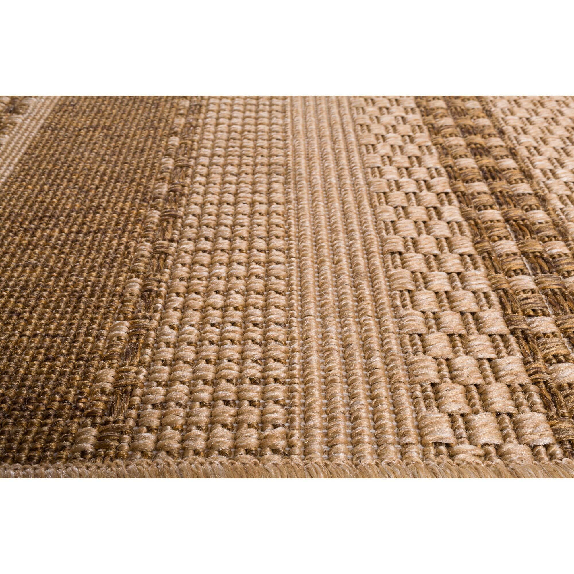 Union rustic annica large stripe beige indoor outdoor area for Landscape indoor area rug