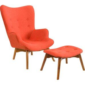 canyon vista midcentury wingback chair set