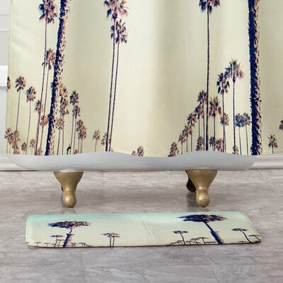 Bree Madden California Palm Trees Bath Rug
