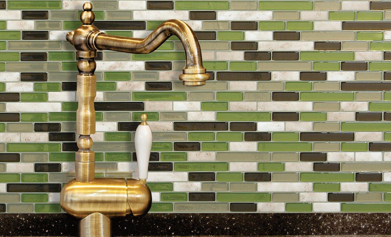 "Smart Tiles Mosaik Muretto Eco 10.20"" X 9.10"" Peel & Stick"