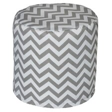 Nehemiah Chevron Bean Bag Ottoman by Latitude Run
