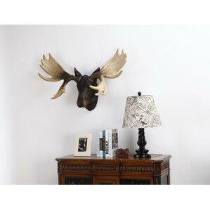 White Deer Head Wall Decor Wayfair - Moose wall decor