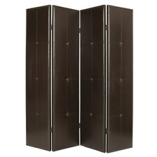 84 x 76 Regent Double Sided 4 Panel Room Divider by Screen Gems