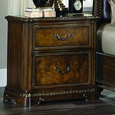 Brompton Lane 2 Drawer Nightstand by Homelegance