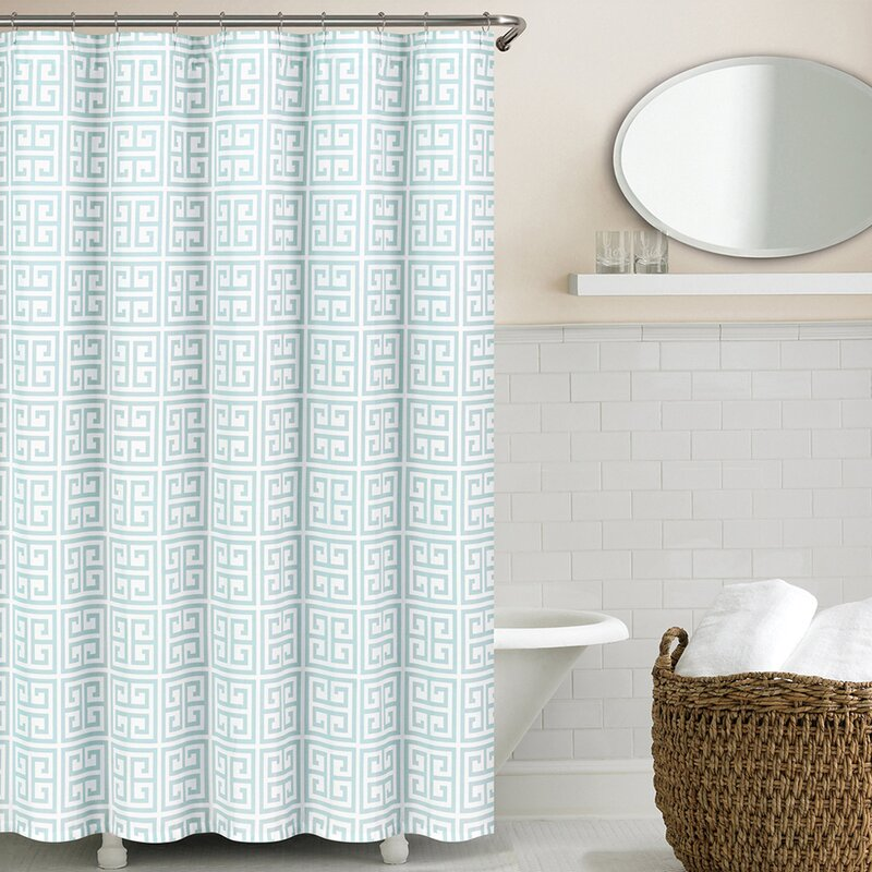 echelon home greek key shower curtain & reviews | wayfair