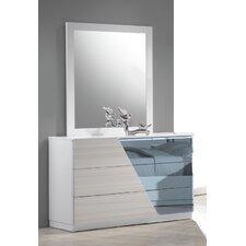 Murakami 3 Drawer Dresser with Mirror by Wade Logan