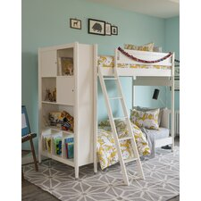 Mid-Century Youth White Bunk Bed by DwellStudio