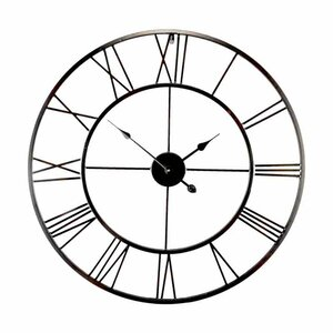 brooklyn oversized 80cm metal wall clock