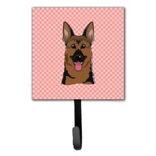 Checkerboard German Shepherd Wall Hook by Caroline's Treasures