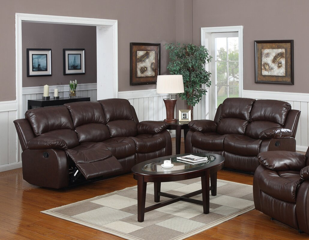 Living Room Leather Sets Straub  Piece Leather Living Room - Wayfair living room sets
