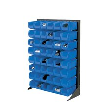 Single Sided Floor Bin Rack by Nexel