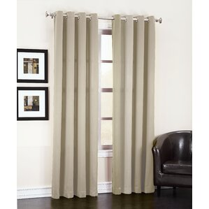groton solid semisheer grommet single curtain panel