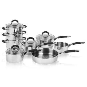 8 Piece Non-Stick Stainless Steel Cookware Set