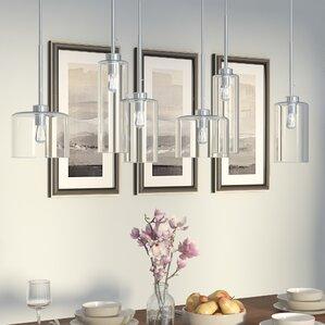siddharth 6 light kitchen island pendant. beautiful ideas. Home Design Ideas