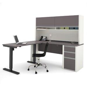L Shape White Office Suites You Ll Love Wayfair