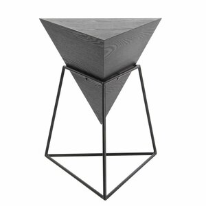 Wood/Metal Triangle End Table by Cole & Grey