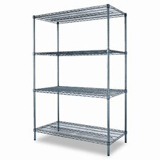 Industrial Wire 72 H 3 Shelf Shelving Unit Starter Kit by Alera