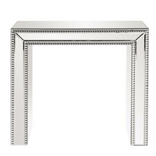 Alcyone Beaded Glass Trimmed Mirrored End Table by Willa Arlo Interiors