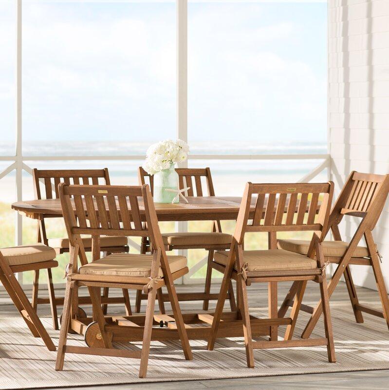 beachcrest home randwick 7 piece dining set with cushions