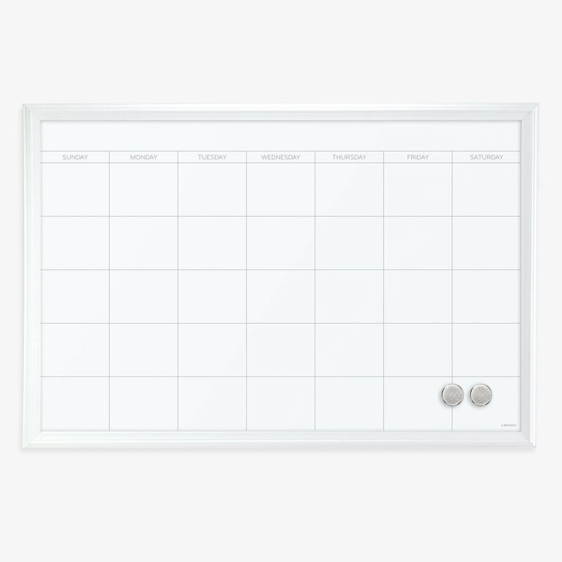 U Brands Llc Magnetic Calendar Wood Frame Dry Erase Board
