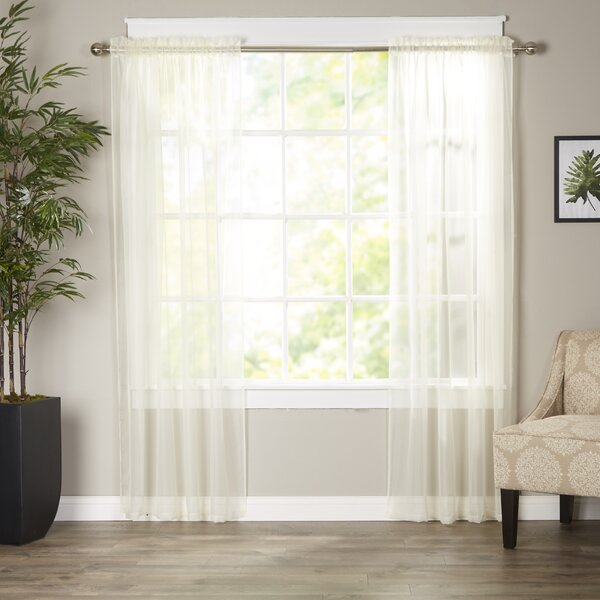 Basics Solid Sheer Curtain Panels