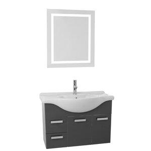 Phinex 32 Single Bathroom Vanity Set with Mirror Nameeks Vanities