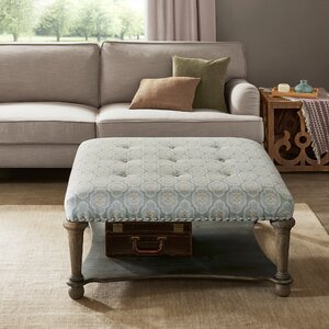Refrenshire Square Exposed Wood Cocktail Ottoman by Darby Home Co