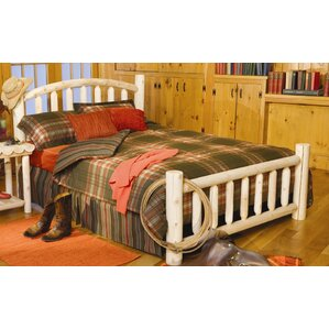 Log Style Beds Panel Bed by Rustic Natural Cedar Furniture