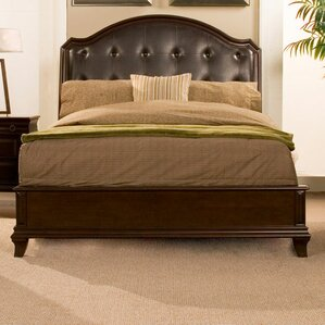 Beaumont Upholstered Panel Bed by Alpine Furniture