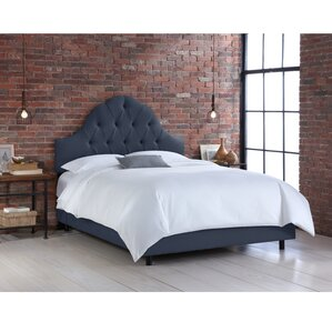 Upholstered Panel Bed by Skyline Furniture