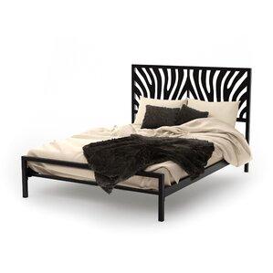 Zebra Platform Bed by Amisco