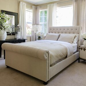 Upholstered Sleigh Bed by Elements Fine Home Furnishings
