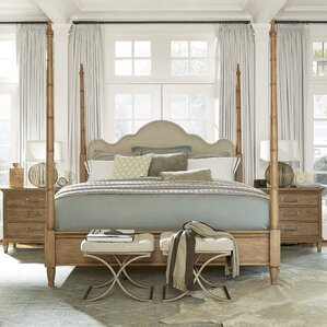 Moderne Muse Upholstered Four poster Bed by Universal Furniture