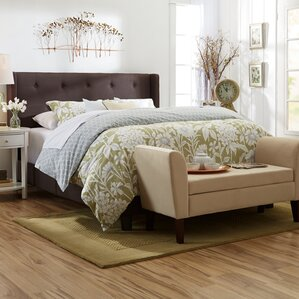 Queen Upholstered Panel Bed by Three Posts