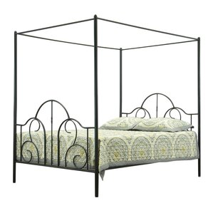Baxton Studio Queen Canopy Bed by Wholesale Interiors