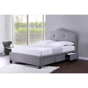 Baxton Studio Upholstered Storage Platform Bed by Wholesale Interiors