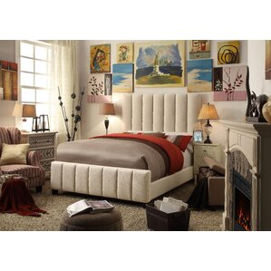 Isabel Queen Upholstered Panel Bed by Mulhouse Furniture