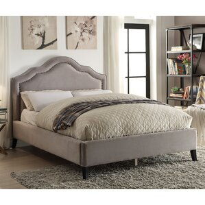 Queen Upholstered Platform Bed by !nspire