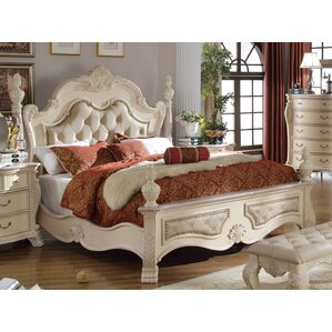 Monaco Upholstered Panel Bed by Meridian Furniture USA