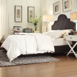 Carrollton Upholstered Panel Bed by Three Posts